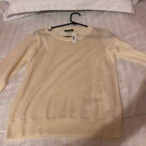 White J.Crew sweater
